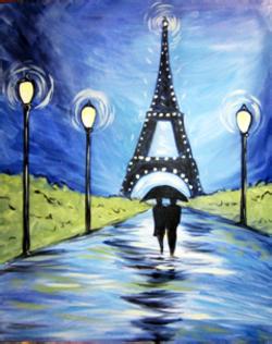 Paris at Night- Muse Paintbar