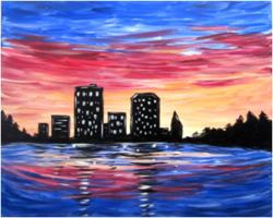 Downtown Sunset- Muse Paintbar