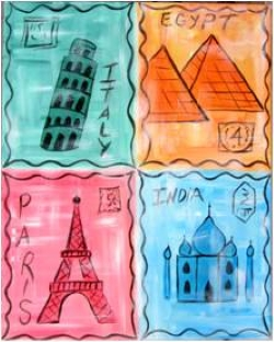 Travel Stamps- Muse Paintbar