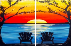 Adirondack Sunset- Muse Paintbar