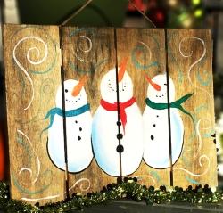 Snowmen Sign- Muse Paintbar