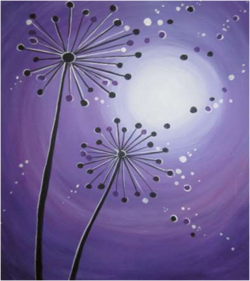 Moonlit Dandelions- Muse Paintbar