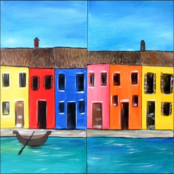 Venice Houses- Muse Paintbar