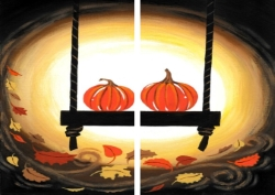 Swinging Pumpkins- Muse Paintbar