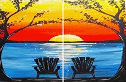 Adirondack Sunset- Muse Paintbar