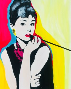 Audrey Hepburn- Muse Paintbar