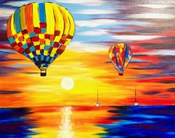 Balloons at Sunset- Muse Paintbar