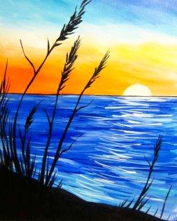 Blue Sunset- Muse Paintbar