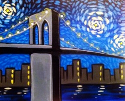 Starry Brooklyn Bridge- Muse Paintbar