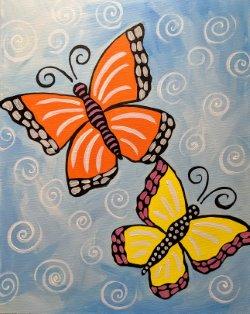 Buzzing Butterflies - Muse Paintbar