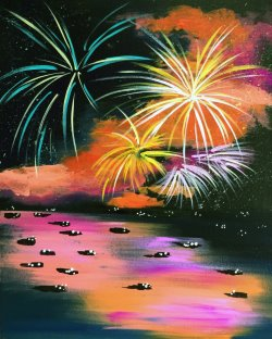 Colorful Fireworks- Muse Paintbar