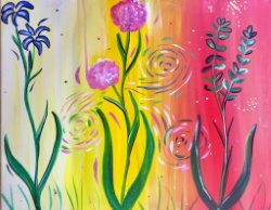 Dancing Flowers- Muse Paintbar