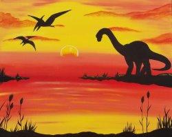 Dinosaur Sunset - Muse Paintbar
