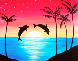 Dolphin Delight- Muse Paintbar