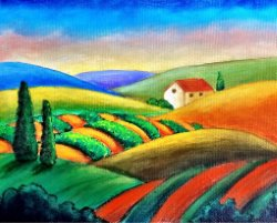Fall in Tuscany- Muse Paintbar