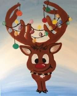 Festive Reindeer- Muse Paintbar