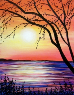 Fiery Sunset- Muse Paintbar