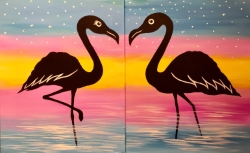 Flamingo Rendezvous - Muse Paintbar