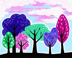Funky Spring Forest- Muse Paintbar