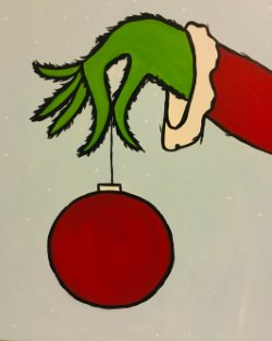 Grinch Hand w/ Ornament- Muse Paintbar