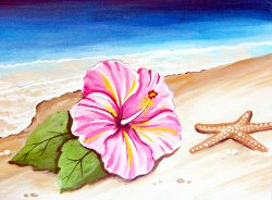 Hibiscus on the Shore- Muse Paintbar