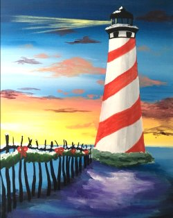 Holiday Lighthouse- Muse Paintbar