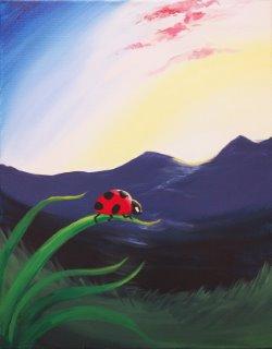 Ladybug Morning- Muse Paintbar