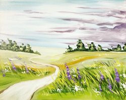 Lavender Fields- Muse Paintbar