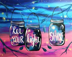 Let Your Light Shine- Muse Paintbar