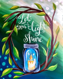 Let Your Light Shine - Muse Paintbar
