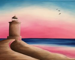 Lookout Lighthouse- Muse Paintbar