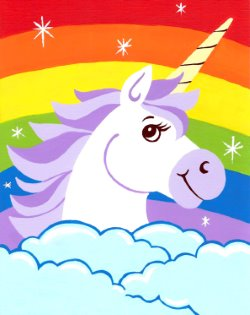Magical Unicorn- Muse Paintbar