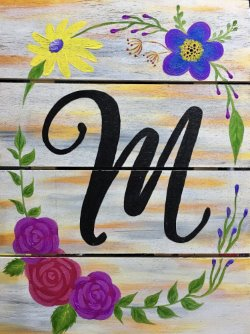 Monogrammed Sign - Muse Paintbar