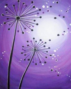 Moonlit Dandelions- Muse Paintbar