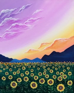 Morning Sunflowers- Muse Paintbar