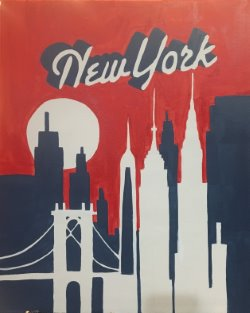 NYC Retro Skyline- Muse Paintbar