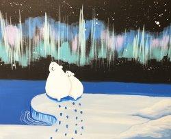 Northern Light Gazing- Muse Paintbar