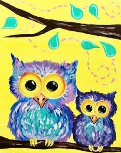Owl Hang Out With Ya- Muse Paintbar