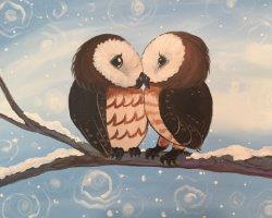 Owl Kiss Ya- Muse Paintbar