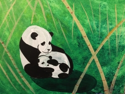 Panda Love- Muse Paintbar