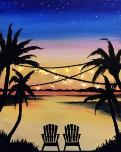Paradise Lights - Muse Paintbar