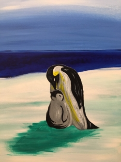 Penguin Parents- Muse Paintbar