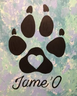 Personalized Paw Print- Muse Paintbar