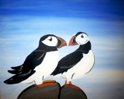 Puffins- Muse Paintbar