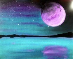 Purple Moon- Muse Paintbar