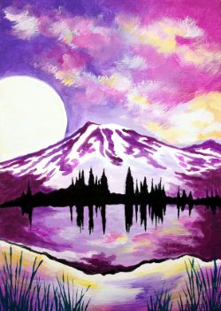 Purple Mountains Majesty- Muse Paintbar