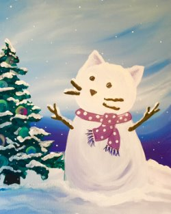 Puuurrfect Snow Day - Muse Paintbar