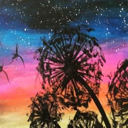 Rainbow Dandelions - Muse Paintbar