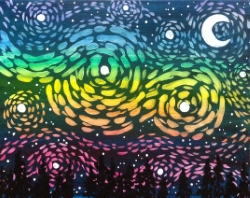 Starry Rainbow Sky- Muse Paintbar