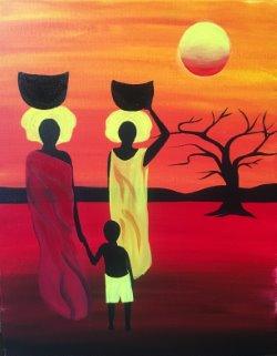 Serengeti Sunset- Muse Paintbar